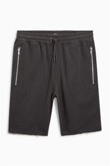 Raw Hem Jersey Shorts