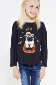 Halloween Pug T-Shirt (3-12yrs)