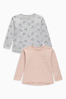 Long Sleeve Unicorn T-Shirt Two Pack (3-16yrs)