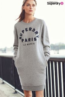 Superdry Grey Mariner Sweat Dress
