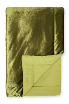 Green Velvet Throw