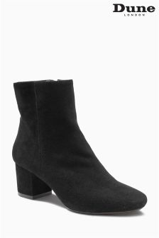 Dune Black Suede Ankle Boot
