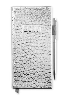 2017 Silver Faux Leather Diary