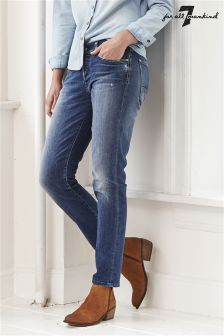 7 For All Mankind Josefina Slim Illusion Bluesteel Jean