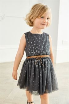 Sequin Spotted Dress (3mths-6yrs)