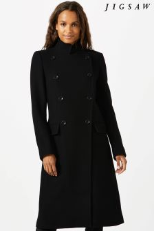 Jigsaw Black Maritime Coat