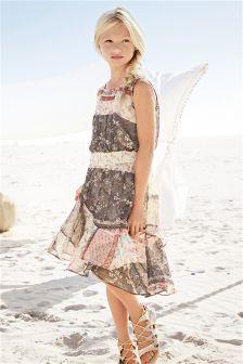 Printed Dippy Dress (3-16yrs)