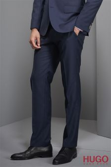 Hugo Tailoring Navy Huge Suit: Trousers