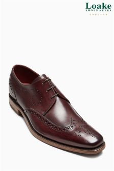 Loake Burgundy Kruger Wingcap Derby Brogue