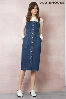 Blue Warehouse Denim Button Through Pini