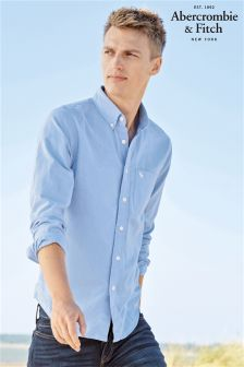 Abercrombie & Fitch Blue Long Sleeve Oxford Shirt