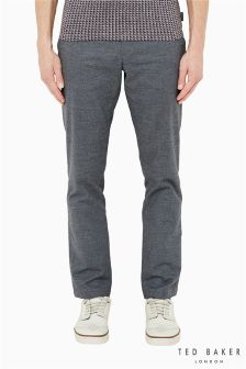 Ted Baker Cuff Detail Charcoal Trouser