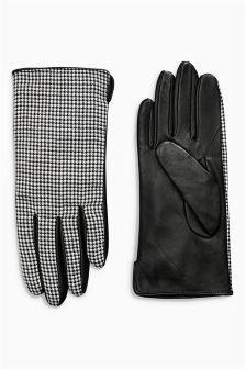 Houndstooth Pattern Gloves