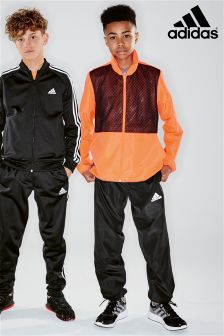 adidas Black/Red Tracksuit