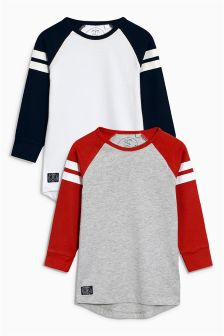 Raglan T-Shirts Two Pack (3-16yrs)