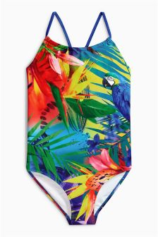 Parrot Print Swimsuit (3-16yrs)