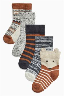 Alpine Socks Five Pack (Younger Boys)