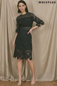 Whistles Navy Amanda Lace Dress