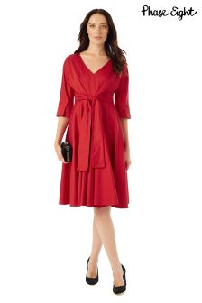 Phase Eight Red Taylor Tie Front Dress
