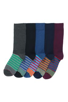 Footbed Socks Five Pack