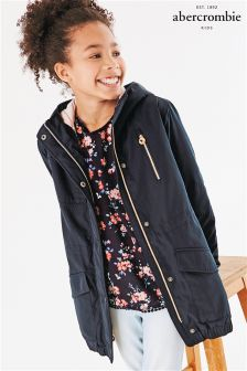 Abercrombie & Fitch Navy Parka Jacket