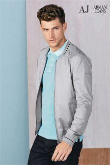 Armani Jeans Grey Bomber Jacket
