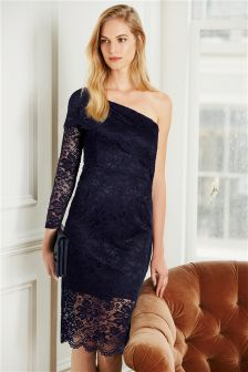 One Sleeve Lace Dress