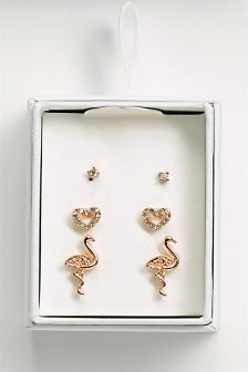 Flamingo Earrings Stud Pack