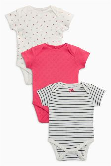 Strawberry Bodysuits Three Pack (0mths-2yrs)