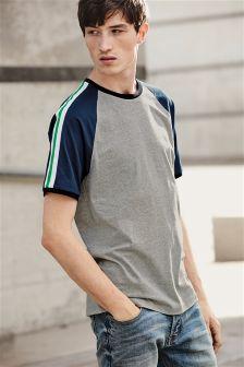 Taped Sleeve Raglan T-Shirt