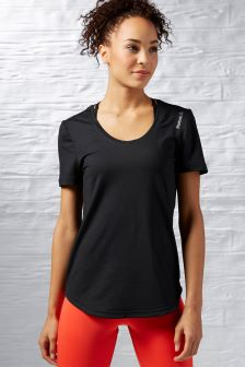 Reebok Gym Black Workout Ready Speedwick Training Tee