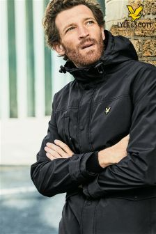 Lyle & Scott Black Parka Jacket