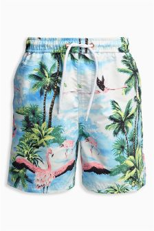 Flamingo Print Swim Shorts (3mths-16yrs)