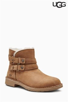 UGG® Tan Aliso Twin Strap Ankle Boot