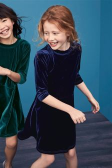 Velvet Shift Dress (3-16yrs)