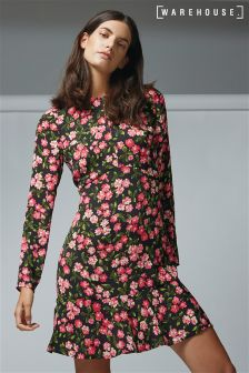 Warehouse Pink Blossom Dress