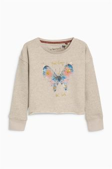 Butterfly Crew Sweat Top (3-16yrs)