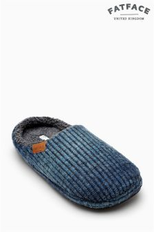 Fat Face Blue Ombre Mule Slipper