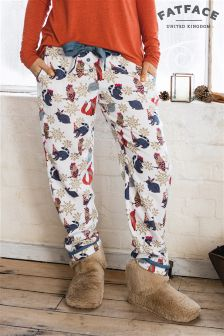 Fat Face Ivory Party Animal Classic Pyjama Bottom