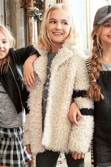 Shaggy Faux Fur Coat (3-16yrs)