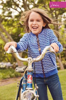 Joules Pool Blue Spot Jessie Bomber Jacket