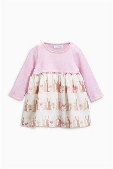 Print Mix Dress (0mths-2yrs)