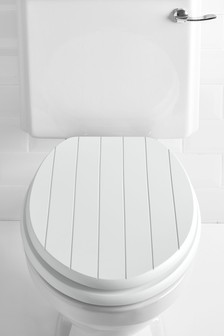 wooden soft close toilet seat white. Groove Toilet Seat Seats  Soft Close Wooden Next UK