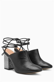 Feature Heel Wrap Mules