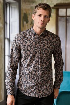Long Sleeve Paisley Shirt
