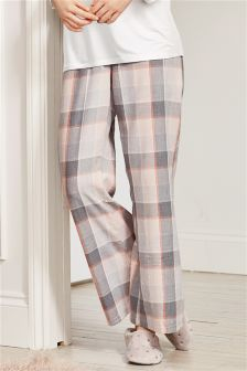 Cotton Check Pyjama Bottoms