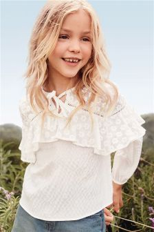Long Sleeve Ruffle Top (3-16yrs)