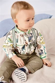 Animal Printed Smart Braces Set (0mths-2yrs)