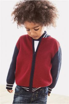 Baseball Zip Through Jacket (3mths-6yrs)