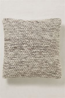 Country Luxe Plaited Wool Cushion